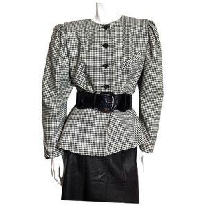 Vintage Houndstooth peplum blazer